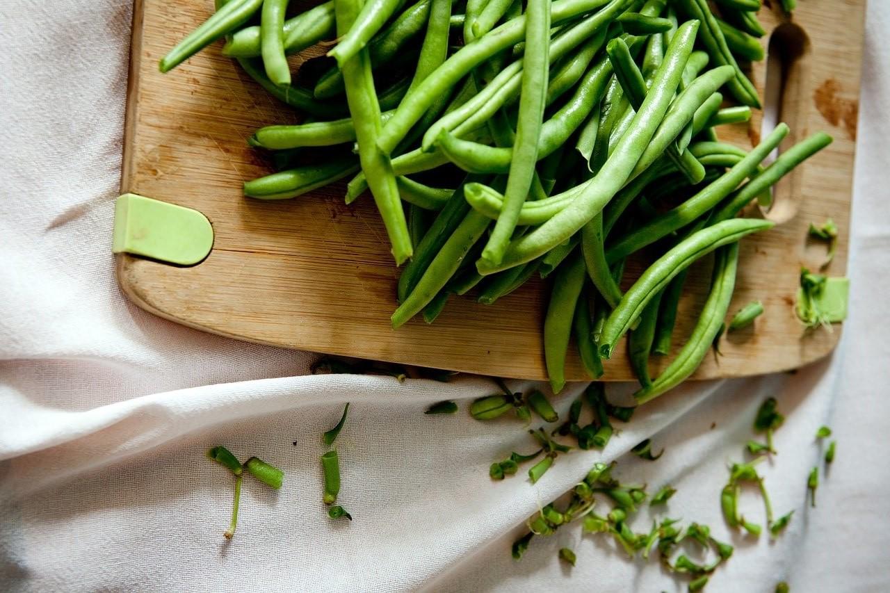 Grüne Bohnen Gemüse mit wenig Kohlenhydraten