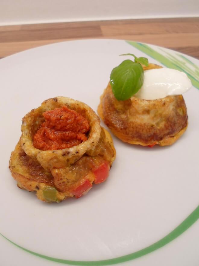 Low Carb Frühstücksmuffins mit Füllung