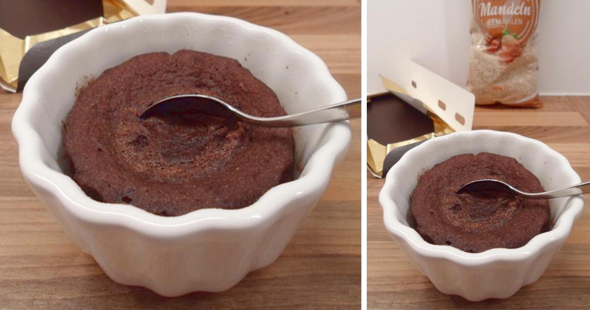 Schokoladiger Low Carb Tassenkuchen Einfaches Und Schnelles Rezept