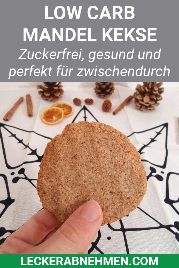 Mandel Kekse nach dem Backen