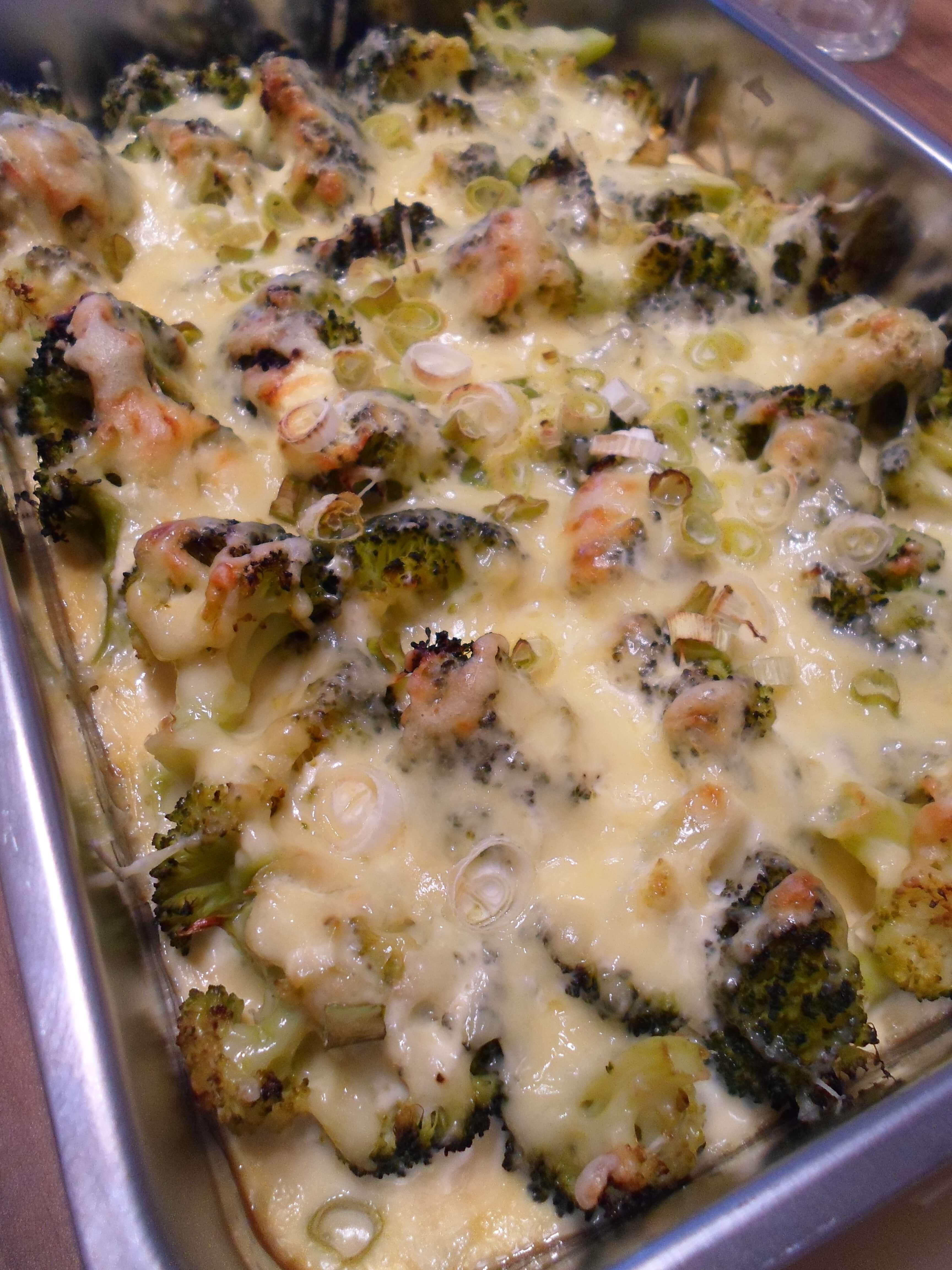 Brokkoli Käse Auflauf Vegetarisch und Low Carb