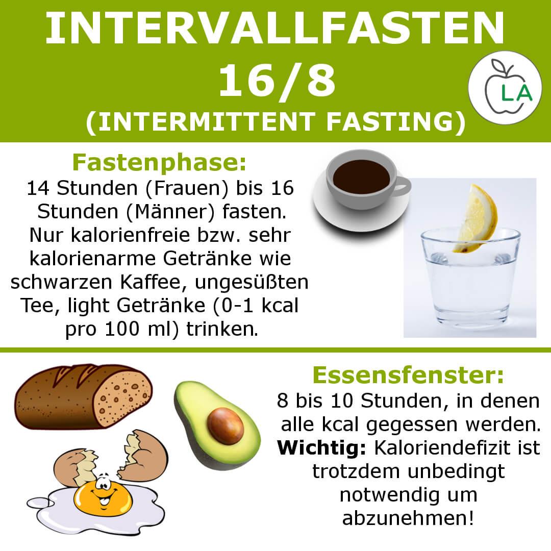 Intervallfasten 16 8 Infografik