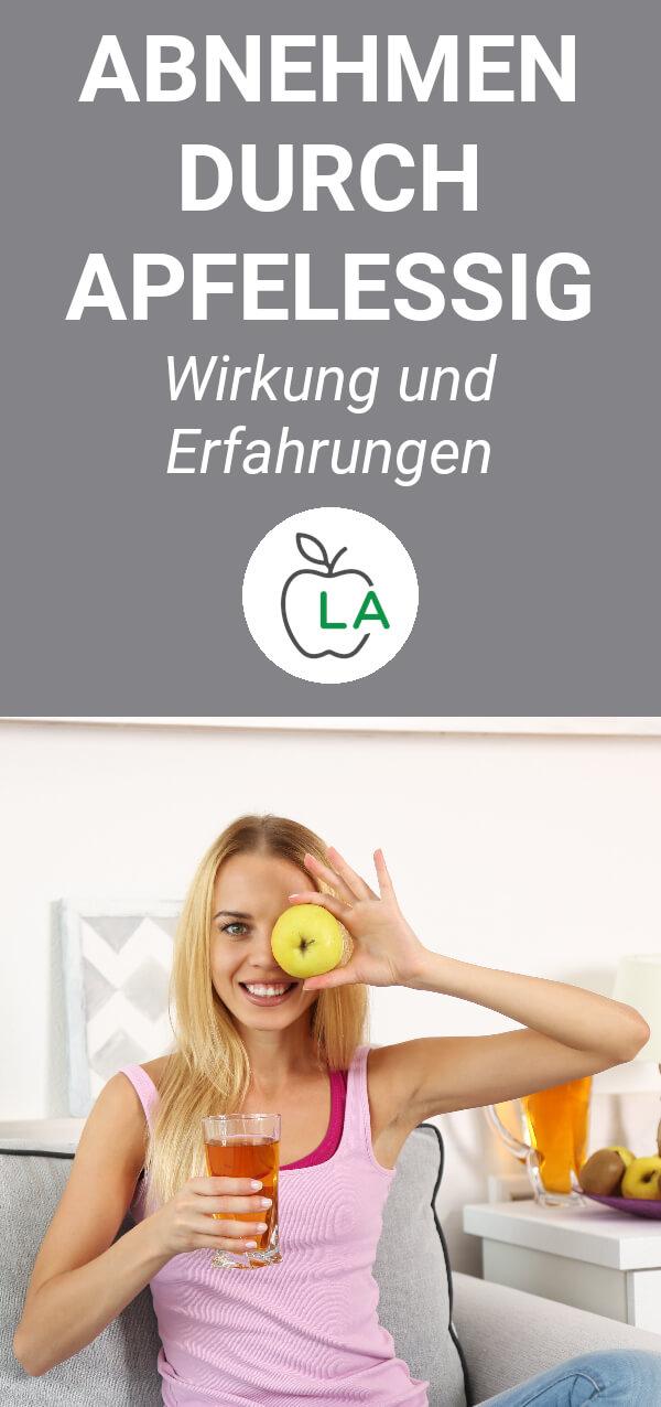 Frau mit Apfel in der Hand