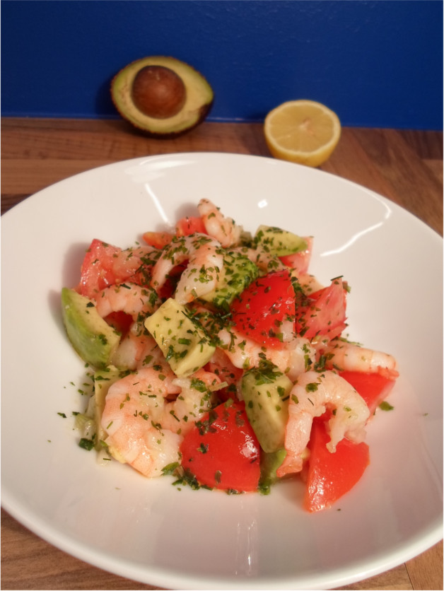 Avocado Shrimps Salat Rezept mit Tomate