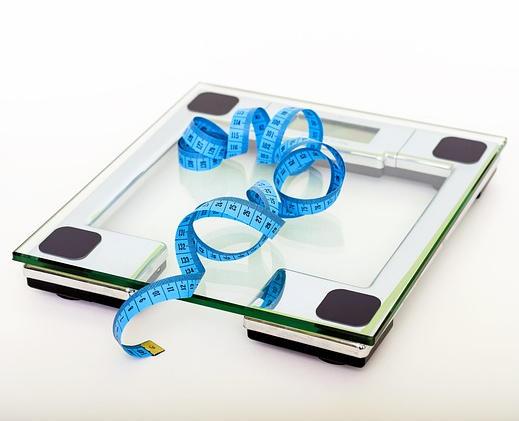 Waage zum Bestimmen des Körpergewichts