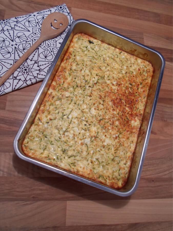 Vegetarischer Zucchini Feta Auflauf