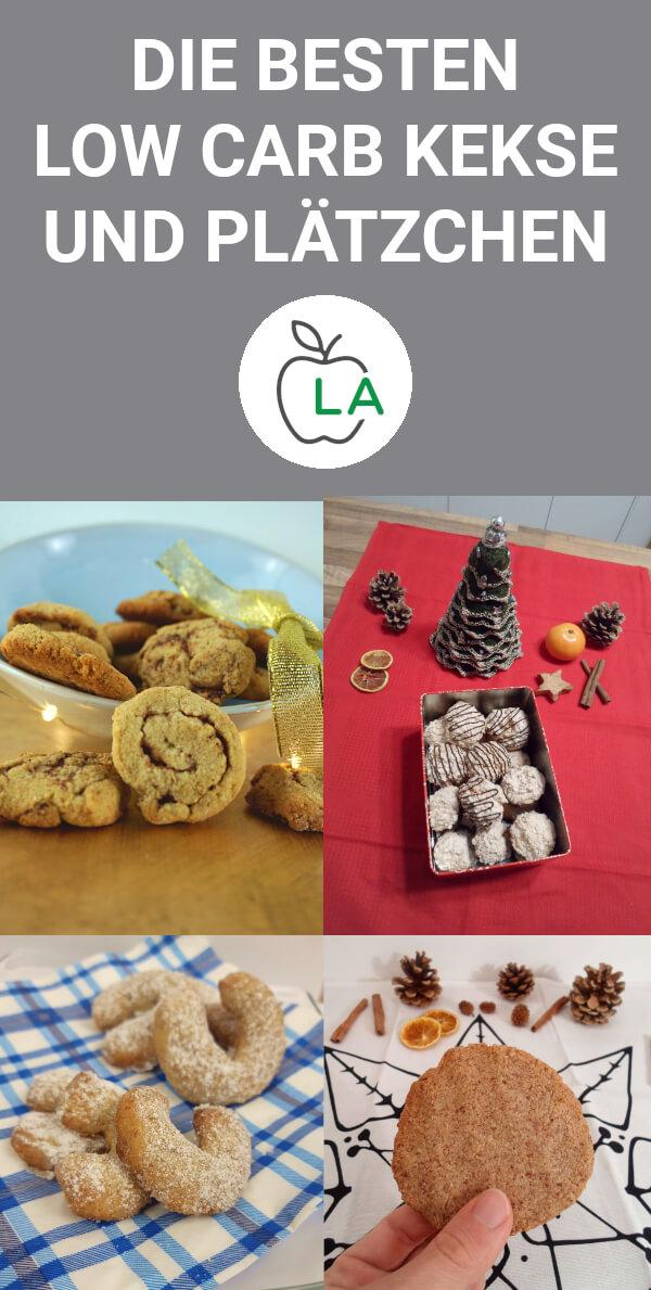 Vier verschiedene Sorten Low Carb Kekse