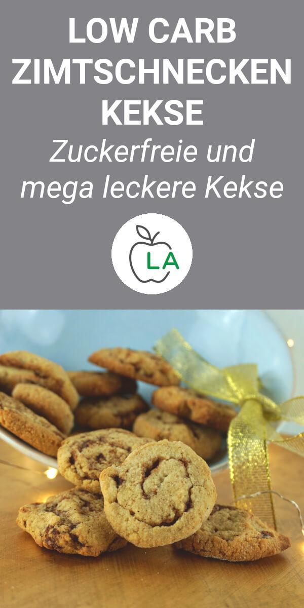 Low Carb Zimtschnecken Kekse nach dem Backen