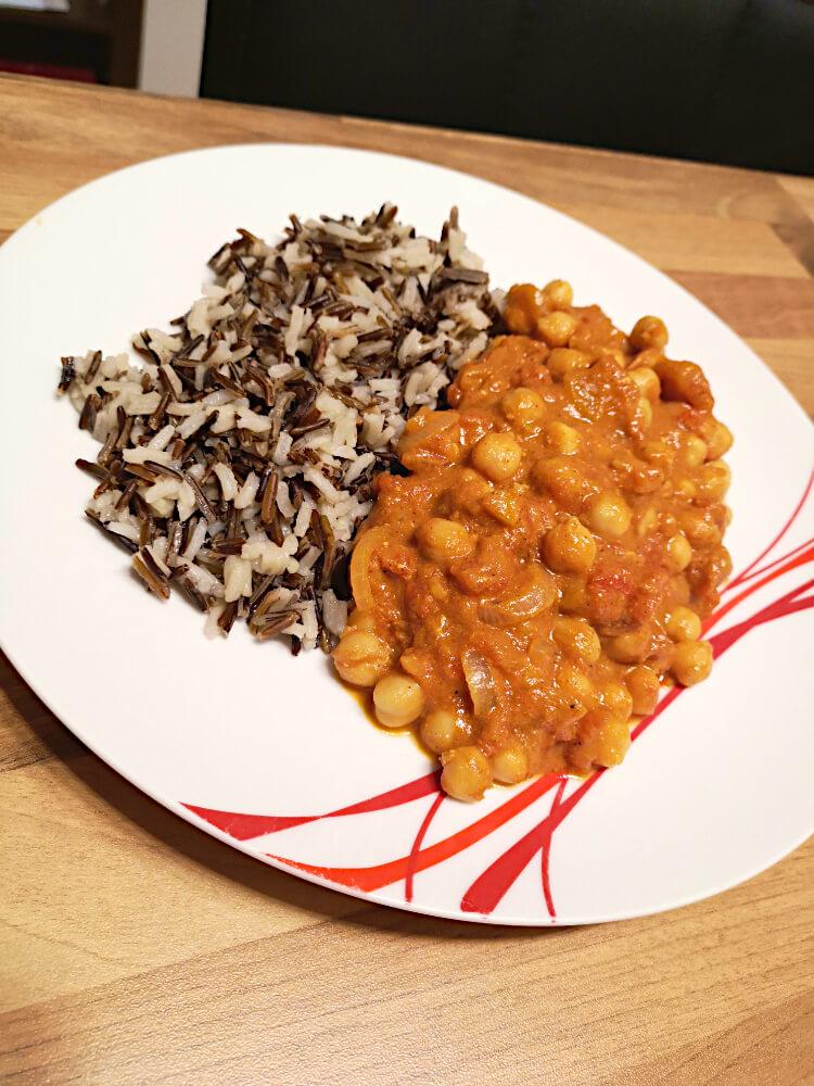 Kichererbsen Curry - Gesundes Rezept