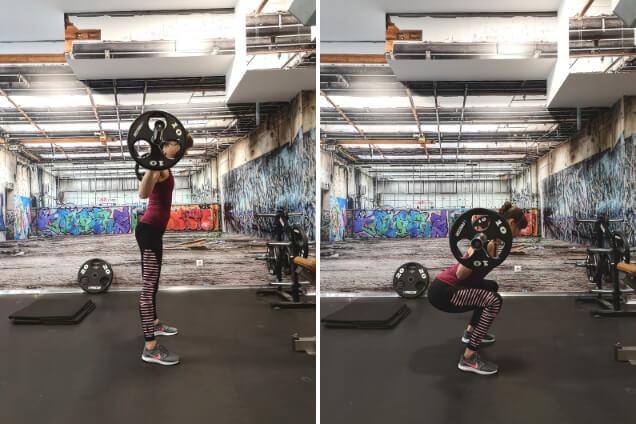 Kniebeugen als Po Übung im Gym
