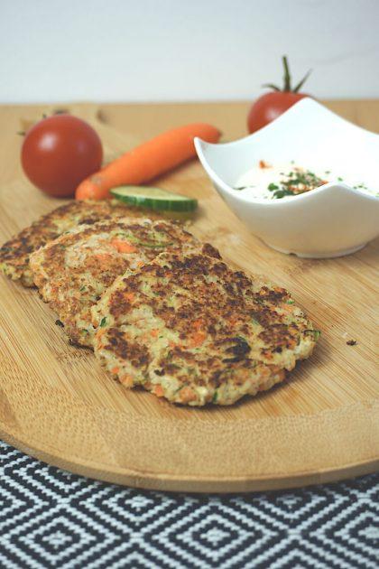 Low Carb Gemüse Puffer zum Abnehmen