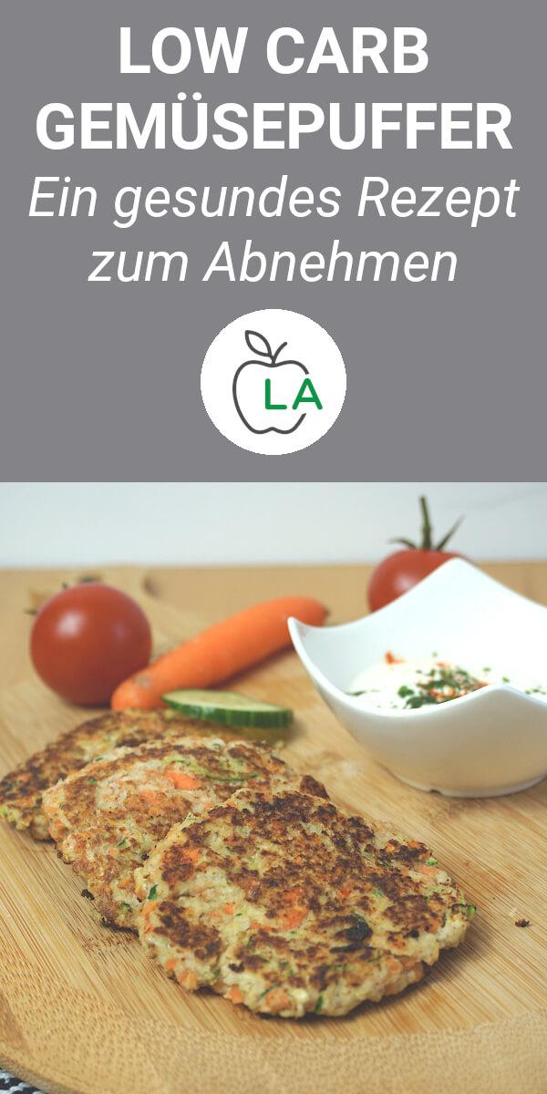 Low Carb Gemüsepuffer nach der Zubereitung