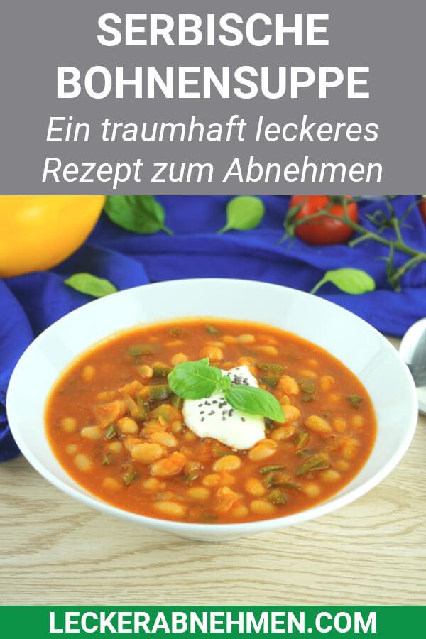 Serbische Bohnensuppe für Low Carb Ernährung