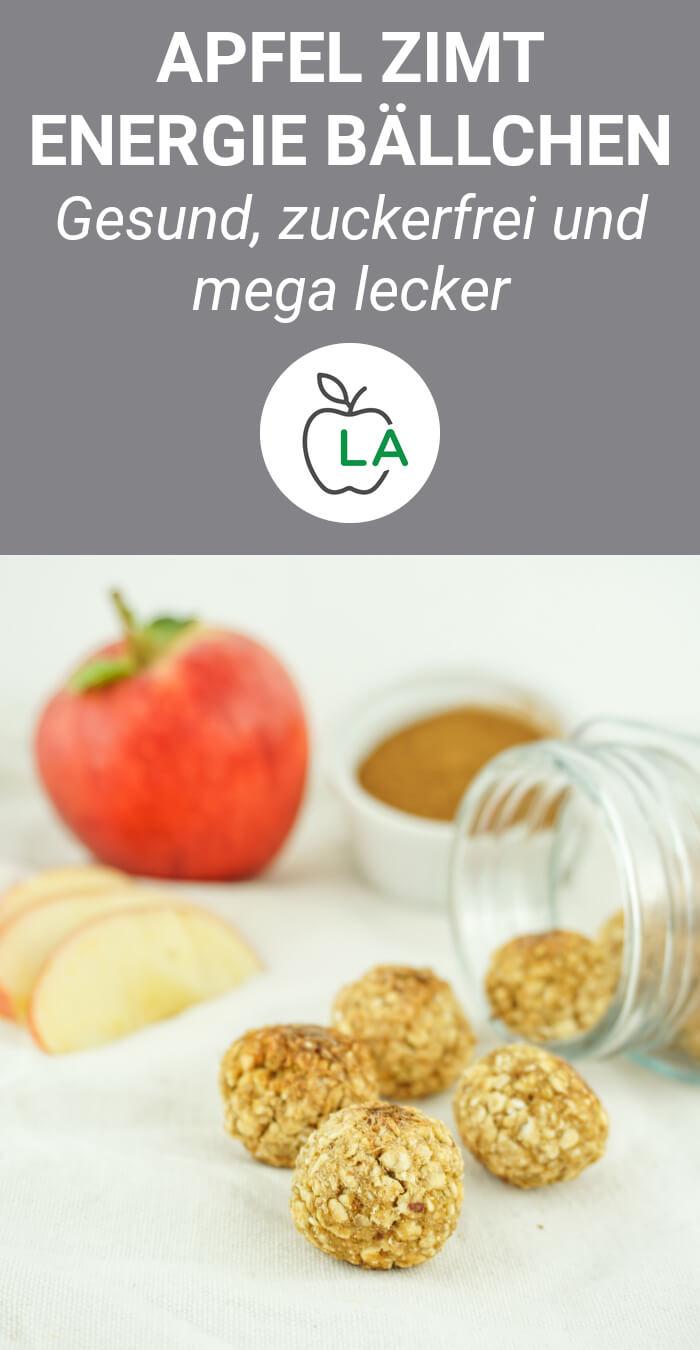 Apfelbällchen - Gesunde Energiebällchen mit Zimt
