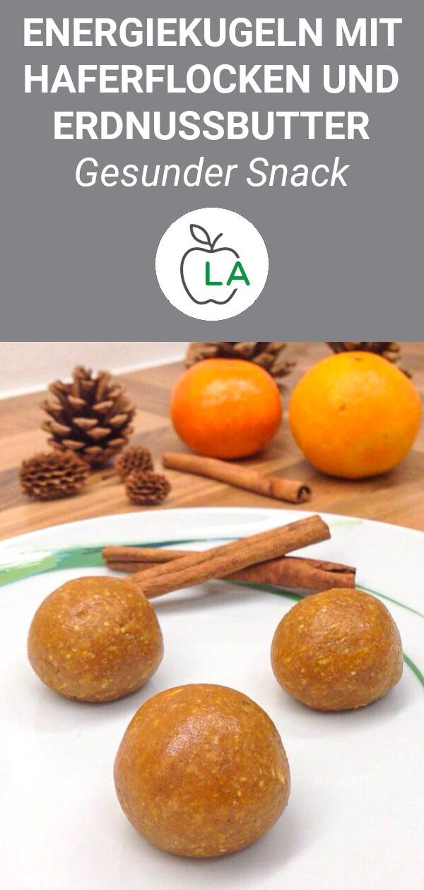 Energyballs mit Kürbis, Haferflocken und Erdnussbutter Rezept