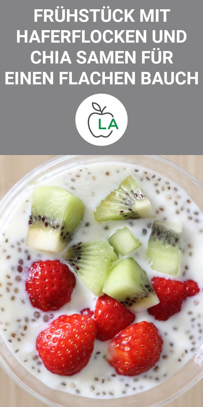 Frühstück mit Chia Samen zum Abnehmen