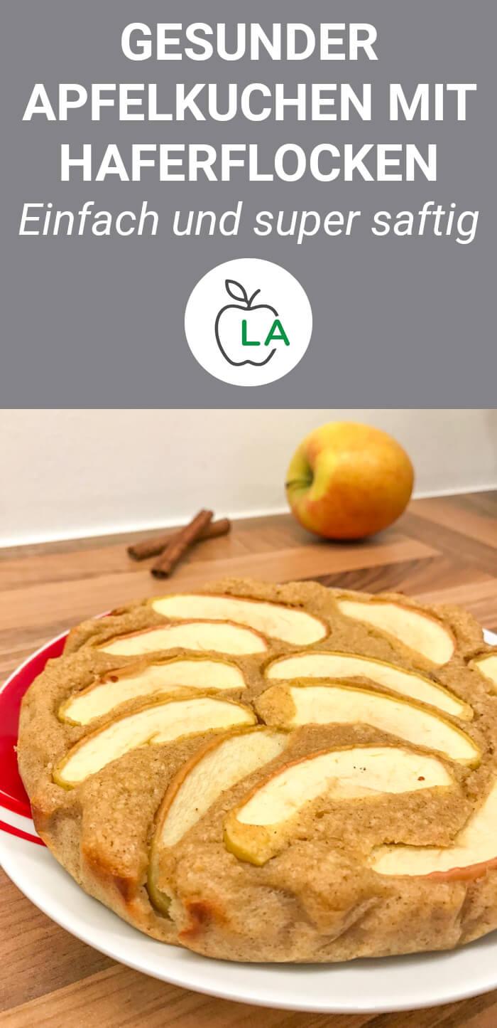 Gesunder Fitness Apfelkuchen mit Haferflocken