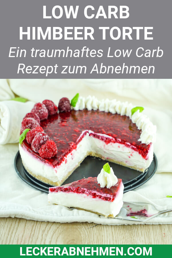 Low Carb Himbeer Vanille Torte ohne Backen