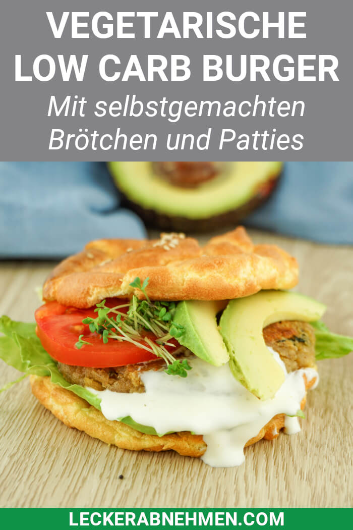 Low Carb Burger Buns und Patties