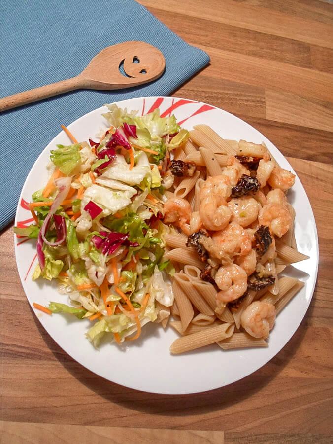 Pasta mit Shirmps - Gesundes Fitness Rezept