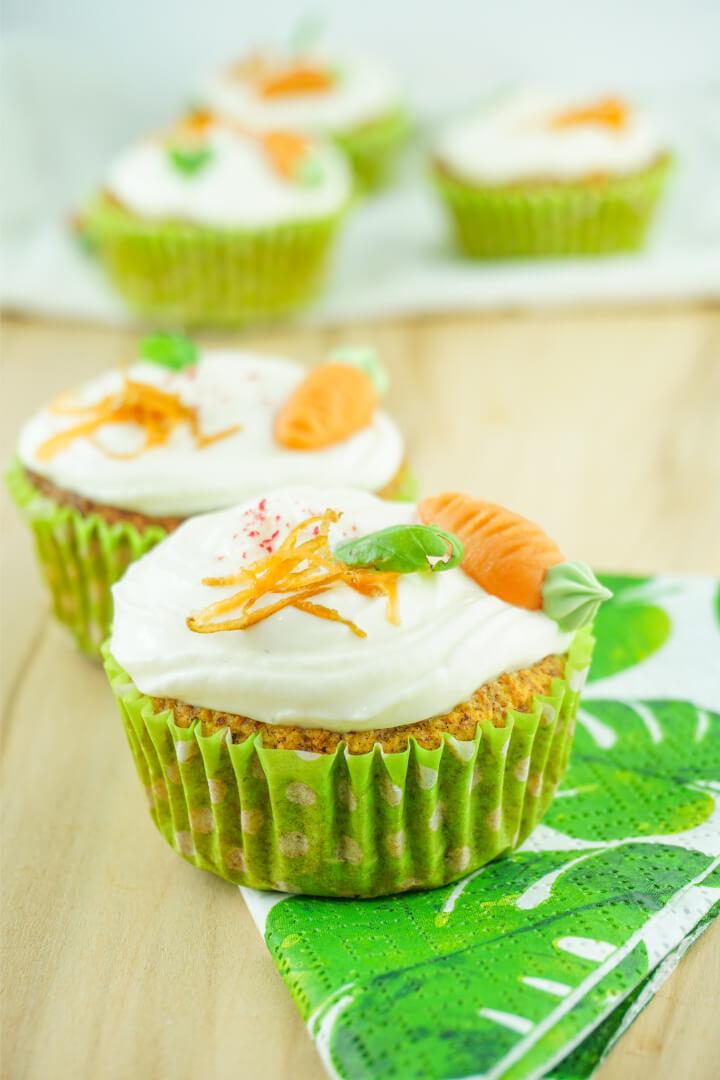 Gesunde Low Carb Karotten Muffins - Glutenfreies Rezept