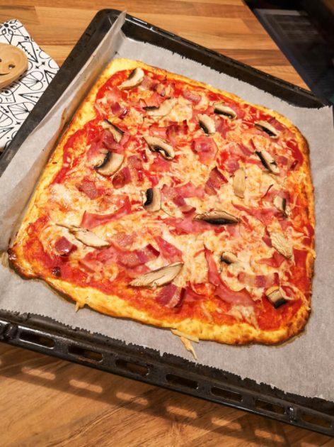 Rezept für Low Carb Pizza mit Quark