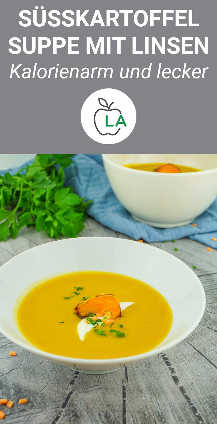 Süßkartoffel Suppe mit Linsen - Rezept
