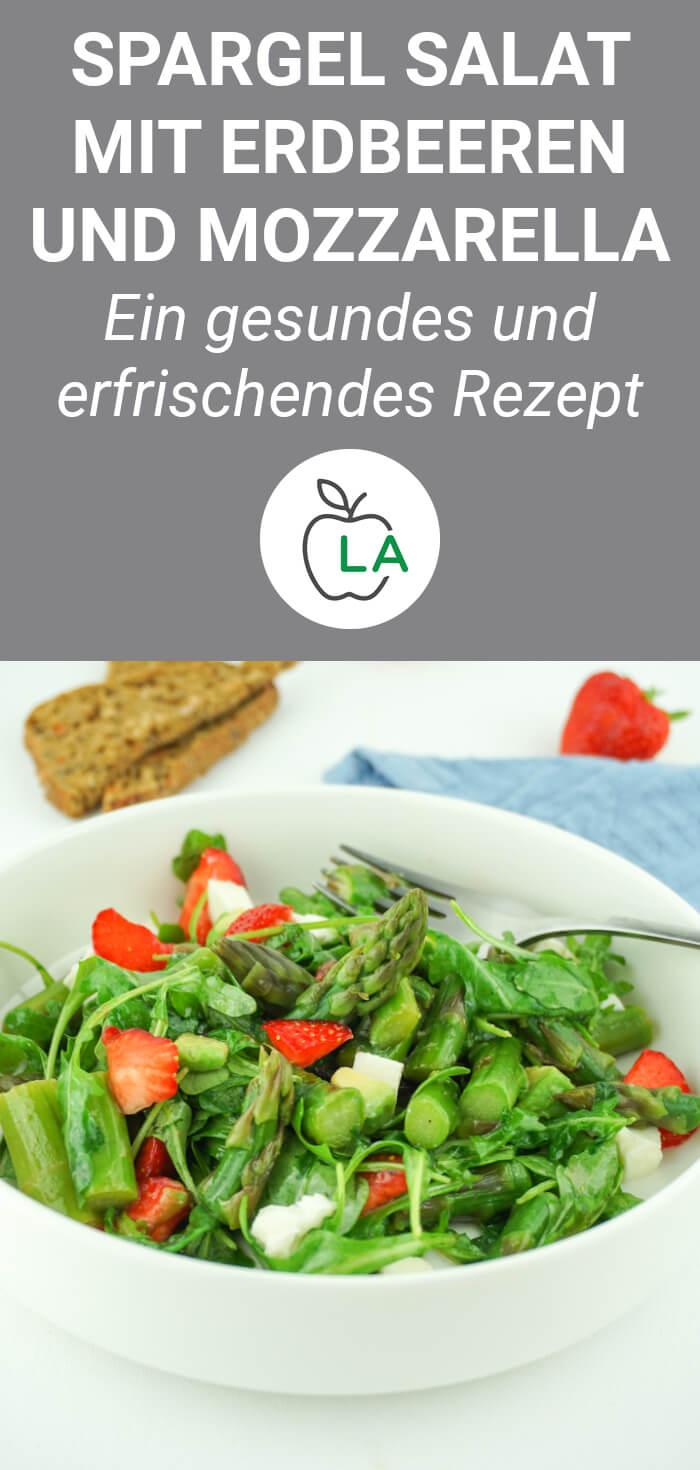 Spargel Salat mit Erdbeeren und Balsamico