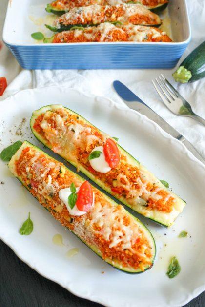 Gefüllte Zucchini mit Cous Cous