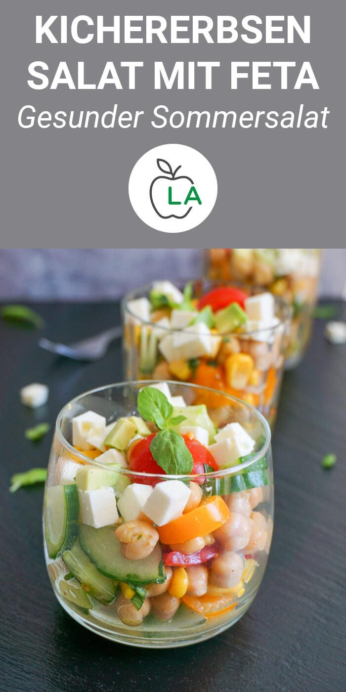 Gesunder Kichererbsen Salat