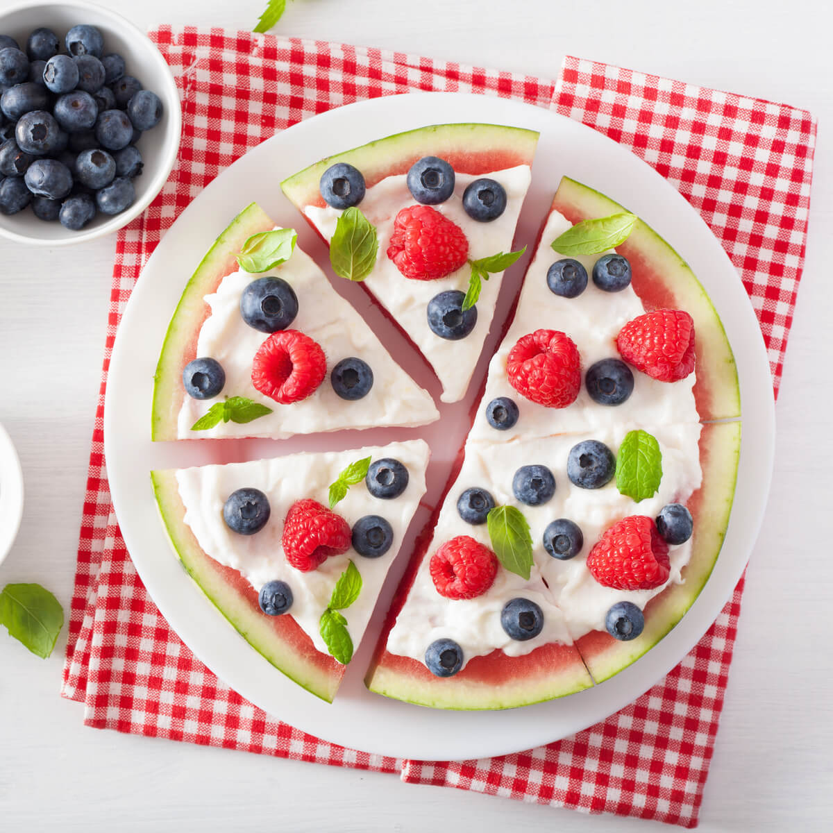 Kalorienarme Wassermelonen Pizza