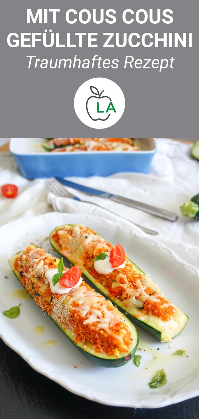 Mit Cous Cous gefüllte Zucchini