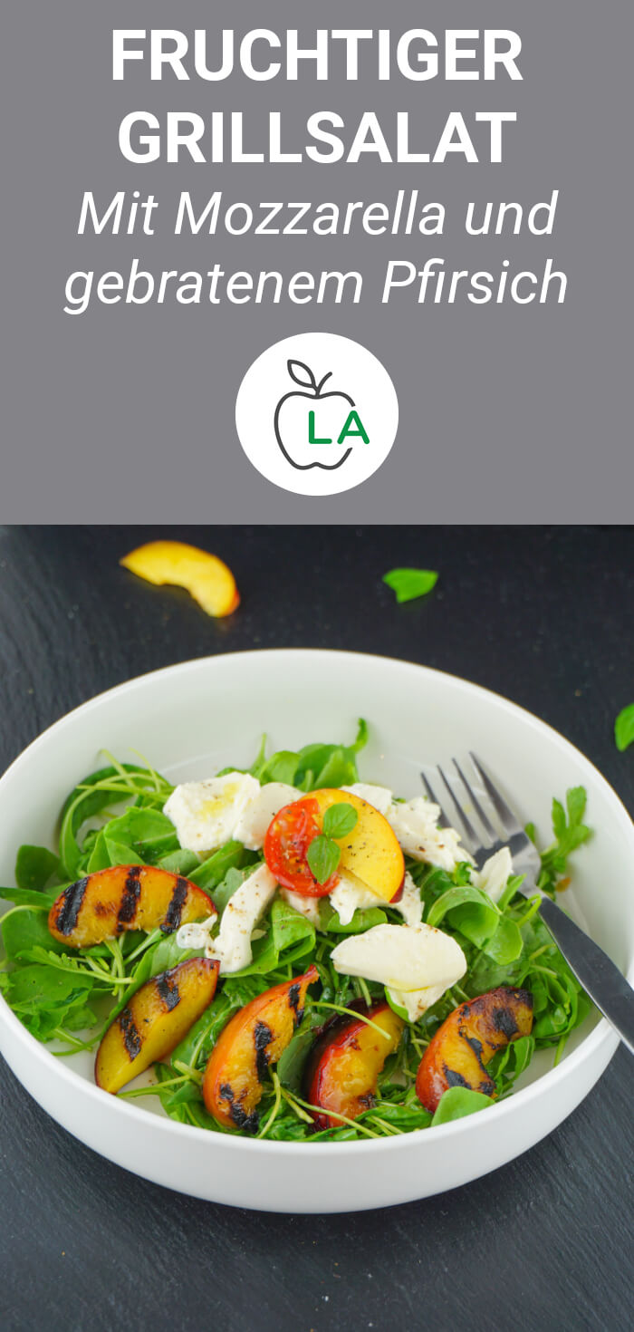 Kalorienarmer Mozzarella Salat zum Abnehmen