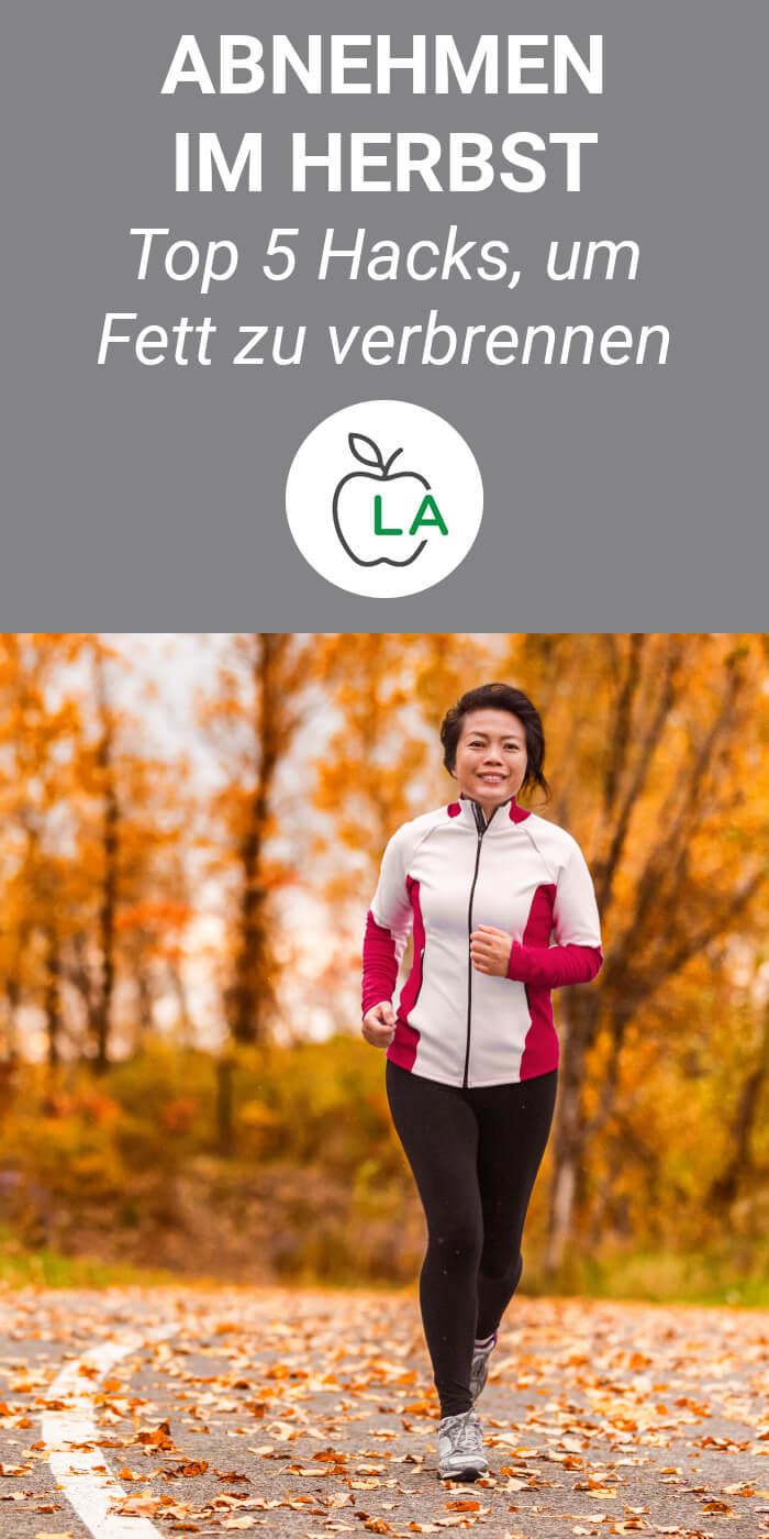 Joggen für den Fettabbau im Herbst