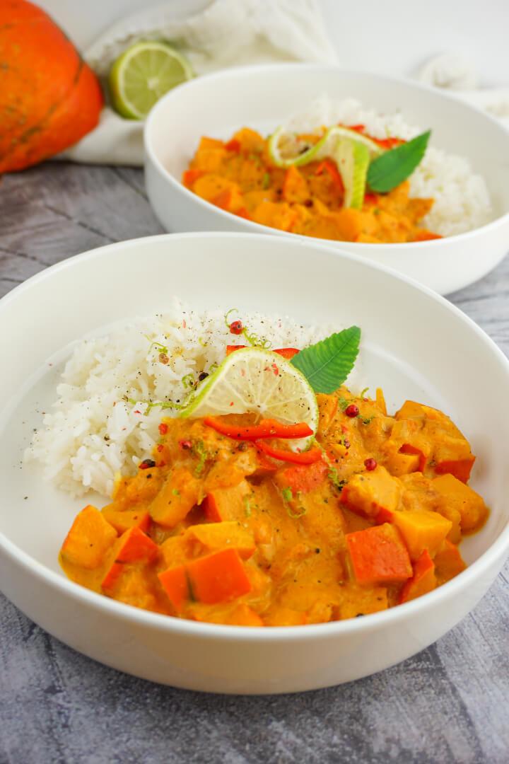 Kürbis Curry mit Kokosmilch