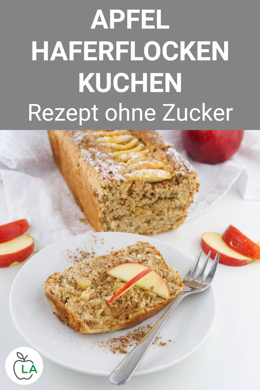 Apfel Haferflocken Kuchen - Fitness Rezept