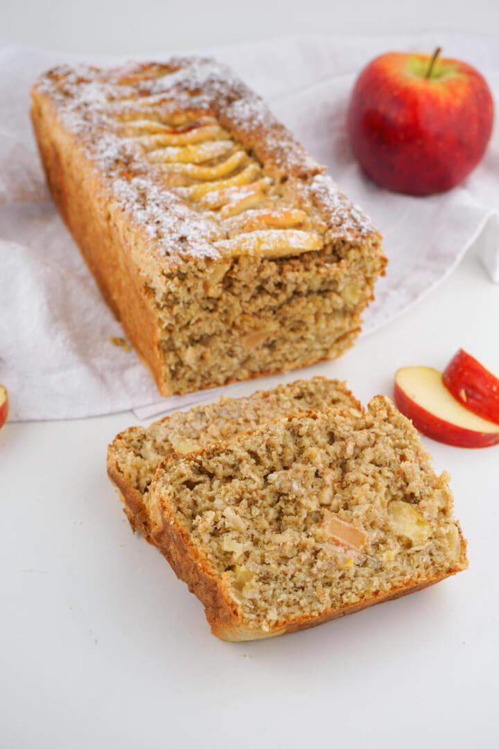 Apfel Haferflocken Kuchen ohne Zucker