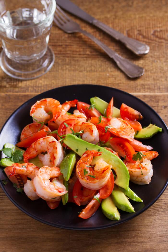 Avocado Shrimps Salat Rezept