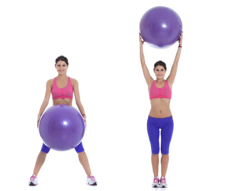 Ganzkörper-Übung mit dem Pezziball