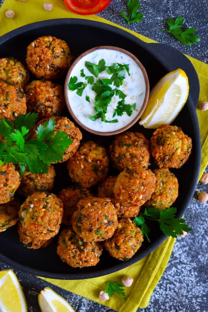 Kalorienarme Ofen Falafel