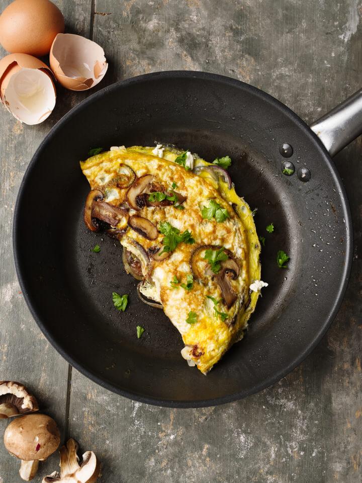 Ketogenes Omelette mit Pilzen
