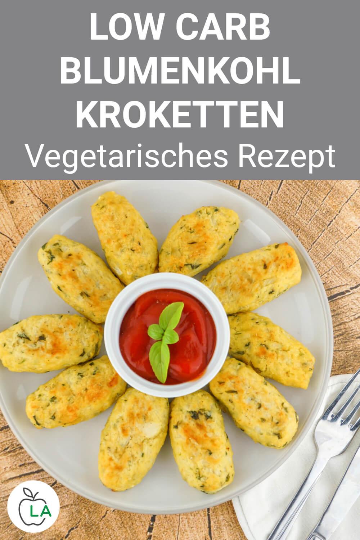 Low Carb Blumenkohl-Kroketten mit Käse