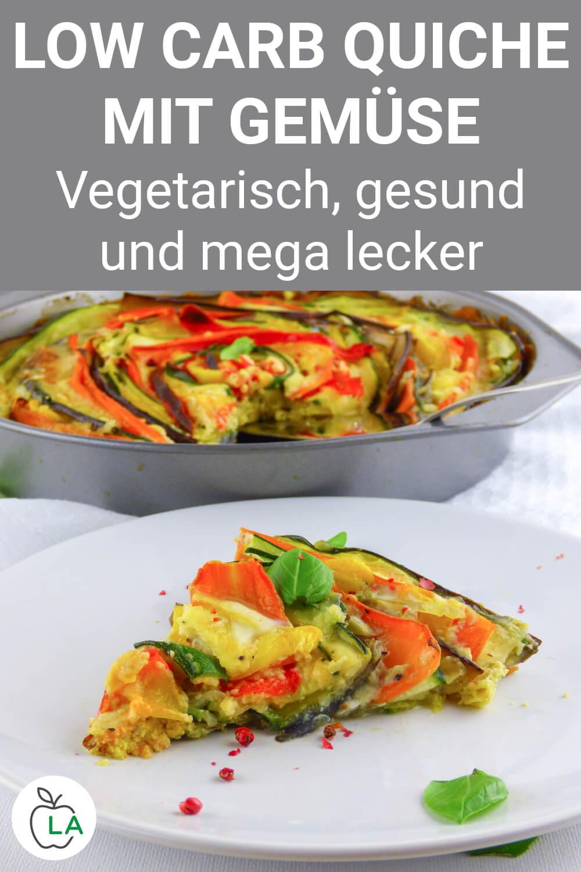 Low Carb Quiche mit Gemüse und Käse