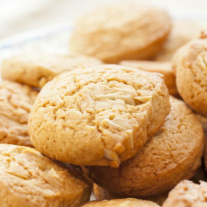 Haferkleie Kekse mit Mandeln