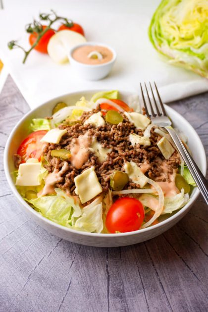 Low Carb Big Mac Salat Rezept