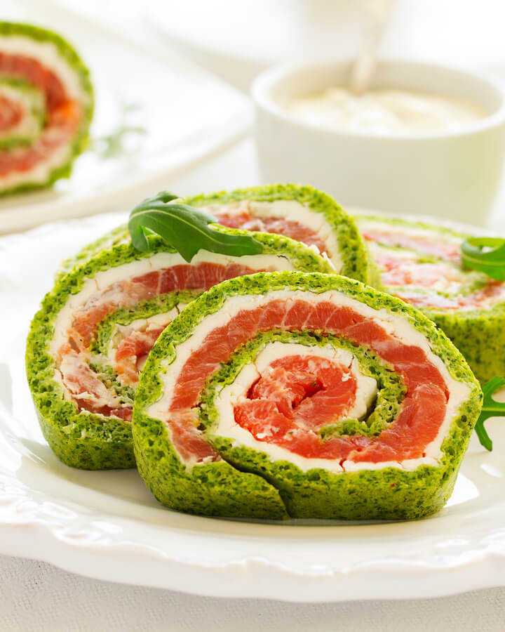 Low Carb Lachsrolle mit Spinat