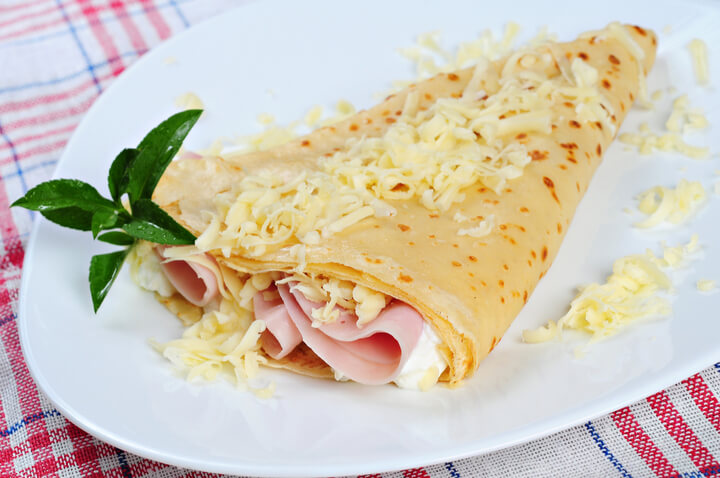 Pikante Crepes als Low Carb Frühstück