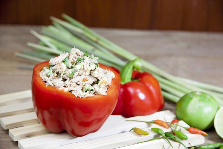 Thunfisch Salat fürs Low Carb Frühstück