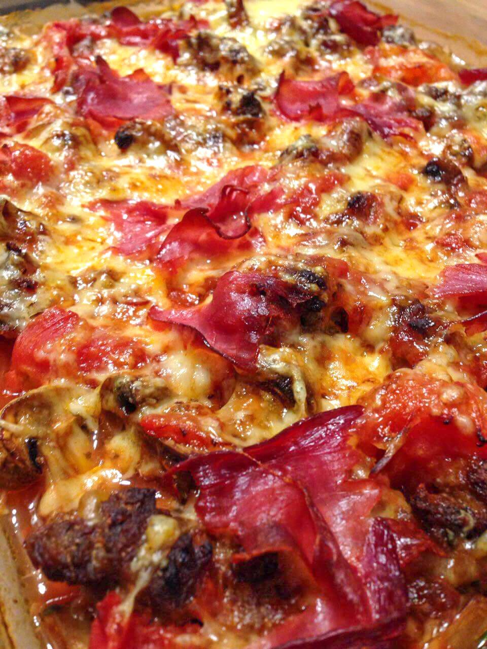 Low Carb Auflauf im Pizza Style