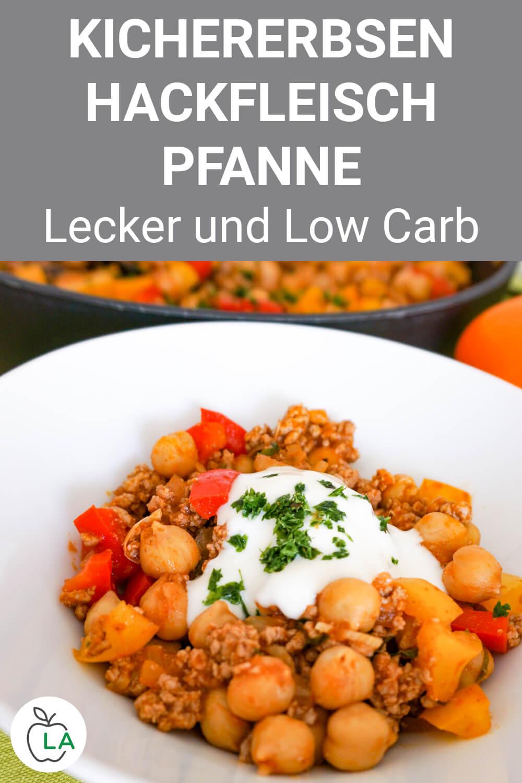 Low Carb Kichererbsen Hackfleisch Pfanne Rezept